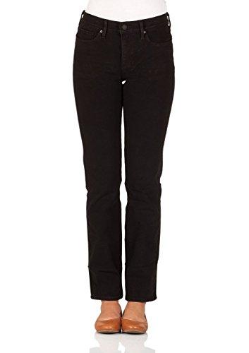 Levi's Damen Straight Jeans 314 Shaping, Schwarz (4X Stretch New Ultra Black 0063), W30/L32