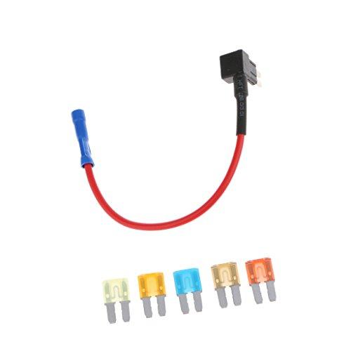 Preisvergleich Produktbild MagiDeal 5 Stk. 5A 7.5A 10A 15A 20A Klinge Sicherung Mit Sicherung TAP Adapter,Halter