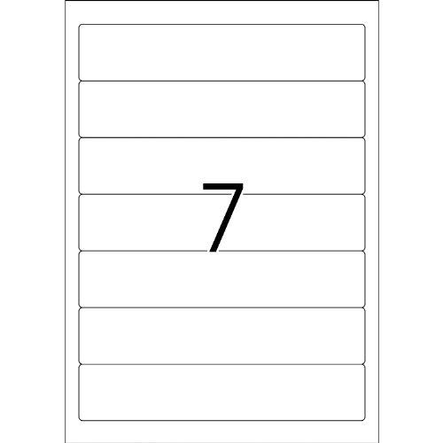 Herma 8620 Ordnerrücken blickdicht, schmal/kurz (192 x 38 mm weiß) 70 Ordneretiketten, 10 Blatt DIN A4 Papier matt, weiß, bedruckbar, selbstklebend