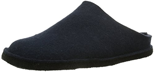 Haflinger Unisex-Erwachsene Flair Soft Pantoffeln - Blau (70 mittelblau), 44 EU