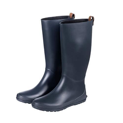 Women Classic Black Tall Women Rain Boots Waterproof Knee High Snow Shoes Outdoor Garden Rain Shoes