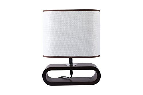 Giftadia Wooden & Stainless Steel Table Lamp With Shade - 8009