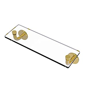 Allied Brass RM-1-16-PB Remi Collection 16 inch Glass Vanity Shelf with Beveled Edges