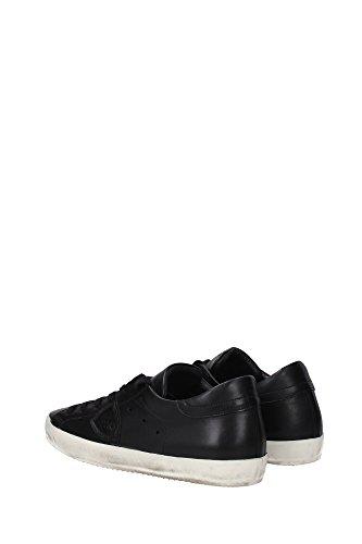 CLLUZE03 Philippe Model Sneakers Homme Cuir Noir Noir