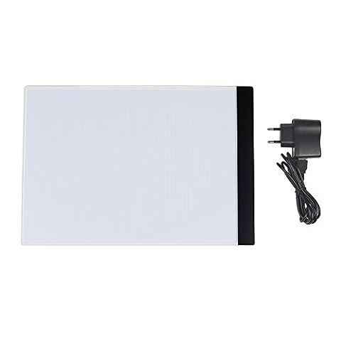 Candora A4LED Art Craft Motif LightPad, traçage traçage de table de lumière, boîte à lumière Pad Tableau, l'artiste Tattoo Bloc à dessin A4Table Pochoir écran, traçage de Motif photo pour Aniamtion esquisse/Concevoir/lampe de table ultra-fin avec USB
