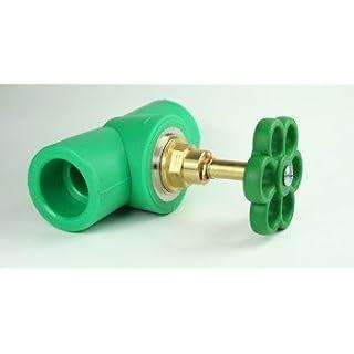 Aqua-Plus - PPR Pipe lockable Cock with Adjustment wheel d = 25 mm, green