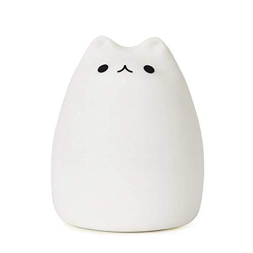 OKBY Kinder Nachtlicht - Cute Cat Lamp Soft Silikon Sensitive Stepp Control Dekompressionsspielzeug -