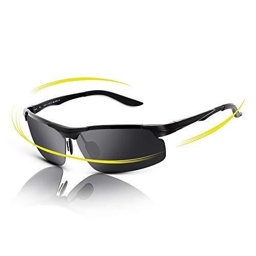 199d841dbf fawova Gafas de Sol Deportivas Hombre Polarizadas,Gafas Running Hombre con  Aluminio Ultraligero, Gafas