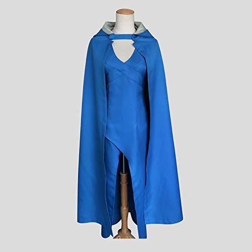 I TURE ME Games of Thrones Dress Daenerys Targaryen Cosplay Bluedragon Costume for Halloween/Christmas,XL
