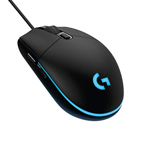 Logitech G203 Prodigy Ratón Gaming con cable, 8000 DPI, RGB LED Personalizable con 16,8 M Colores, Peso Reducido, 6 Botones Programables, Memoria Integrada, PC/Mac - Negro