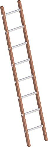 Layher 1029008 Verbundanlegeleiter 8 Sprossen, Holz-Aluminium-Anlegeleiter, Länge 2.40 m