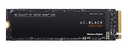 WD Black SN750 High-Performance NVMe M.2 interne Gaming SSD 500 GB, WDS500G3X0C-00SJG0
