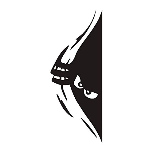 LONGTENGHEIHA Halloween Wandaufkleber Dekoration Zubehör Kinder Vintage Peeking Monster Kinder Wandtattoos Schlafzimmer Wohnzimmer (Hausgemachte Kinder Halloween Dekoration)