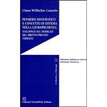 Pensiero sistematico e concetto di sistema nella giurisprudenza sviluppati sul modello del diritto privato tedesco (Il diritto e l'Europa)