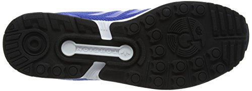 adidas ZX Flux, Scarpe da Ginnastica Basse Uomo Blu (Blue/blue/footwear White)