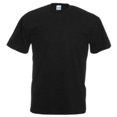 Gildan Heavy Cotton TM Adult T-Shirt XL,Schwarz - Schwarz (Cotton T-shirt 100% Heavy)