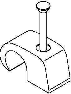 Nagelschelle 7-12 mm, mit 35 mm Nagel, 200 Stück,