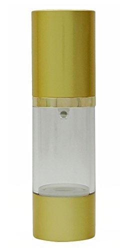 6 pcs vides en plastique transparent sans air bouteilles en gros Voyage en or bouteille de la pompe Airless rechargeable bouteille de contention lotion 30 ml