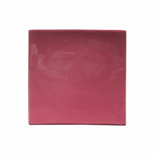 Bruno Evrard Assiette Dessert Rose en céramique 21x21cm - Lot de 6 - MATINE