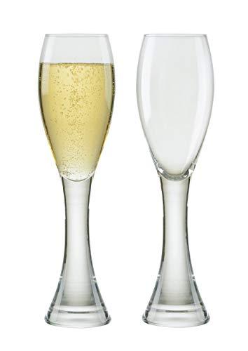 Anton Studio Designs Manhattan Set aus 2 Champagnerflöten - Mundgeblasenes Glas Basen