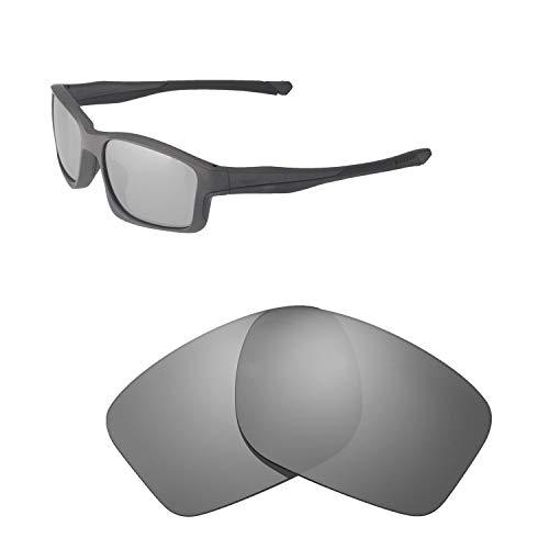 Walleva Ersatzgläser für Oakley Chainlink Sonnenbrille - Verschiedene Optionen erhältlich, Unisex-Erwachsene, Titanium Mirror Coated - Polarized, Einheitsgröße