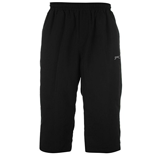 slazenger-mens-three-quarter-jogging-bottoms-pants-trousers-sports-clothing-charcoal-m