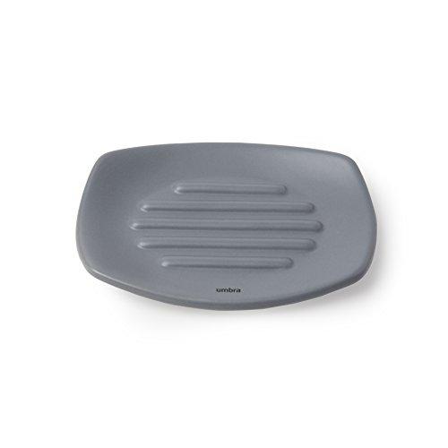 Umbra 1004477-149 Corsa Soap Dish, Seifenschale aus Keramik, Weiß - Keramik-soap