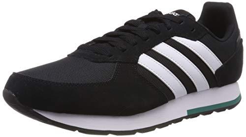 adidas 8K, Herren Laufschuhe, Schwarz (Core Black/Ftwr White/Active Green), 43 1/3 EU