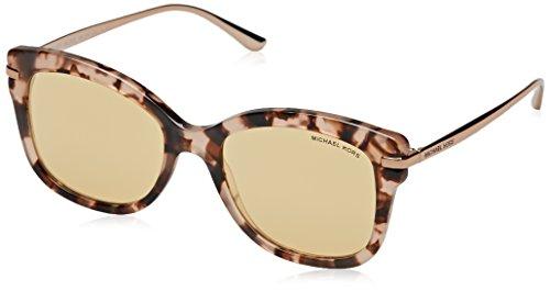 Michael kors lia 31627j 53, occhiali da sole donna, rosa (pink tortoise/liquidrosegold)