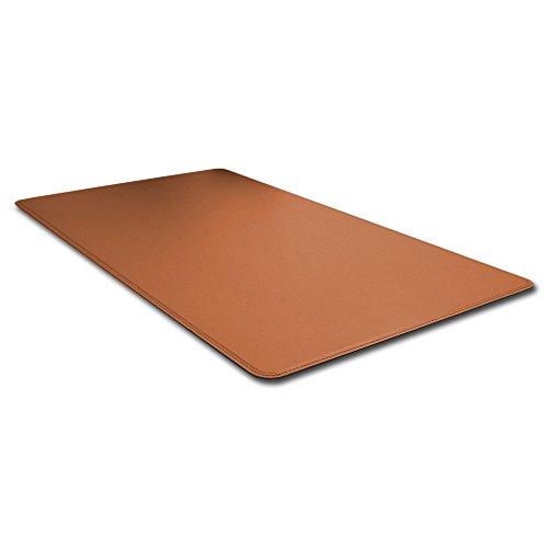 Eglooh - HERMES - Sous-main pour bureau en cuir Marron Natural avec angles ronde et antidérapant, cm 90x60, produit en Italie
