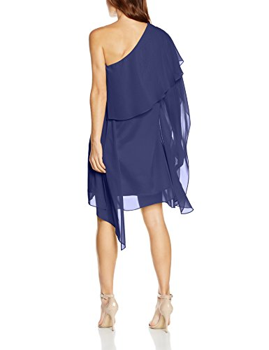 Swing Damen One-Shoulder Chiffonkleid Blau (marine 300)
