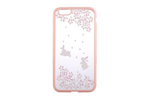 Cover iPhone 6S Plus,Cover iPhone 6 Plus,Cover Custodia Case per iPhone 6S Plus / 6 Plus,ikasus® 2 IN 1 Crystal Clear Hard PC & TPU con il modello di Rosa Fiori di ciliegio fiore dipinto per iPhone 6S Colore # 8