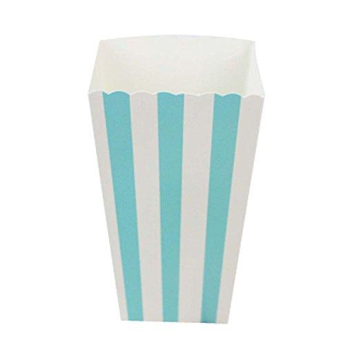 Eimer Snack Cups für Mottoparty, Blauer Streifen ()