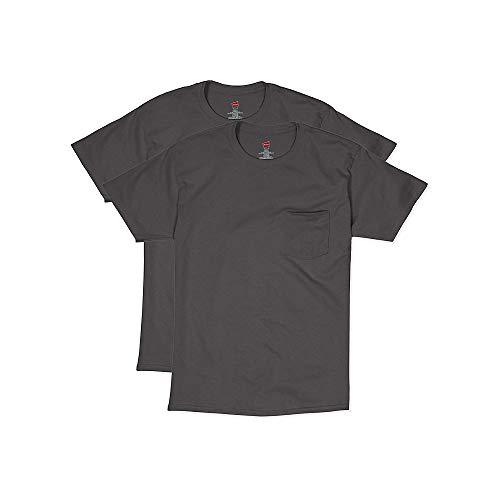 Hanes Mens Short Sleeve Pocket Tee Value 2-Pack (Tagless Xxl T-shirt Hanes)