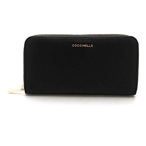 Coccinelle Metallic Soft Zip Around Wallet L Noir...