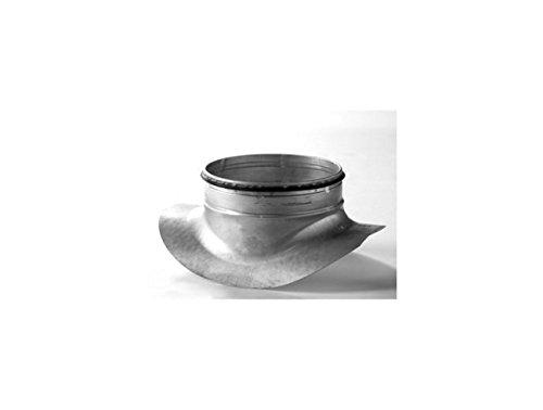 Attacco a sella in lamiera di acciaio zincata con guarnizione di tenuta per impianti ventilazione e aspirazione. Raccordo da tubo Ø315 a tubo Ø125.