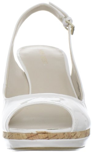 Nine West NINE WEST SHARINA3, Sandali donna White Patent Synthetic