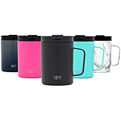 Simple Modern 350 ML Scout Tasse à Café Isolée - Mug Bouteille d'eau Isotherme Acier Inoxydable Gourde INOX -Minuit Noir