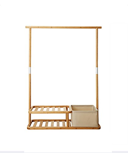 JIANFEI Dauerhaft Garderobenständer Mantel Hut Boden Standing Rack mit 2 Ebenen Schuh Rack, 150cm Bambus Holz Farbe zur Verfügung Simple Interior Furniture (Hut Boden Rack)