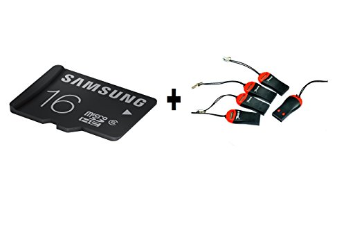 Combo Of Samsung 16 Gb Class 6 Micro Sd Memory Card And 5 Pcs Micro Sd M003 Usb Card Reader Only From M.P.Enterprises