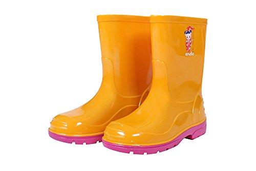 Lemigo OLI Kinder Regenstiefel Gummistiefel Stiefel Regen Schuhe Blau Größe:22 gelb