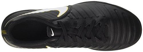 Nike Tiempox Rio IV TF, Chaussures de Football Homme, Noir Noir (Black/White-Black-Metallic Vivid Gold)