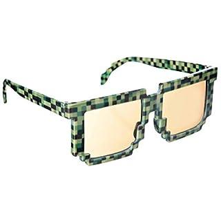amscan 250478-55 Spaß-Brille Pixel, grün, 5 3/4in Wide x 2