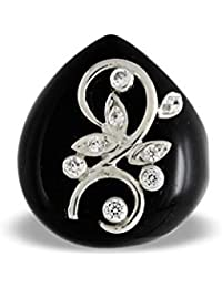 Aastha Jain Black Onyx Sterling Silver Ring for Women