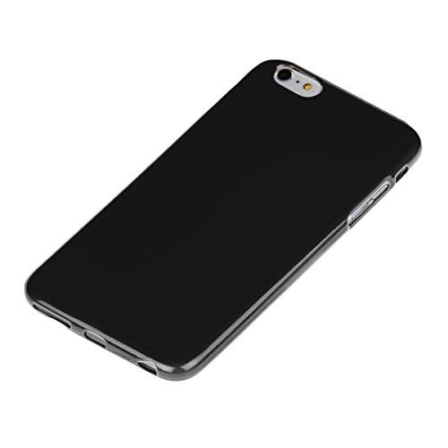 kwmobile Étui en TPU silicone élégant pour Apple iPhone 6 Plus / 6S Plus en bleu foncé mat .noir
