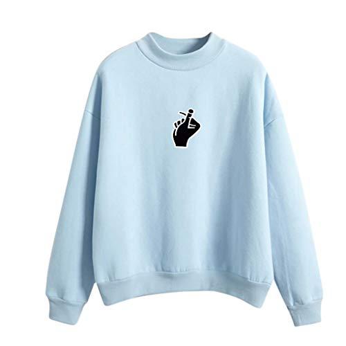 bd7ac9cf41 JUTOO 2019 Women Fashion Long Sleeve Love Finger Printed Sweatshirt Blouse  Tops T -Shirt