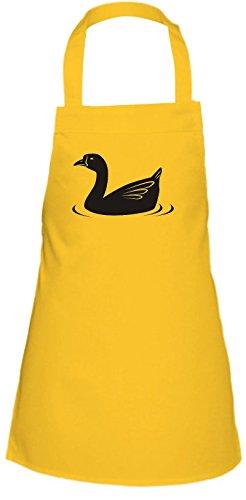 Shirtstown Kinder Latzschürze Tiere Ente, Duck Farbe gelb -