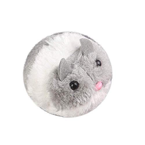 Vektenxi Premium Qualität Haustier Hund Katze Plüschtier Laufende Maus Tier Zug Schwanz Laufen Interaktives Geschenk - Grau