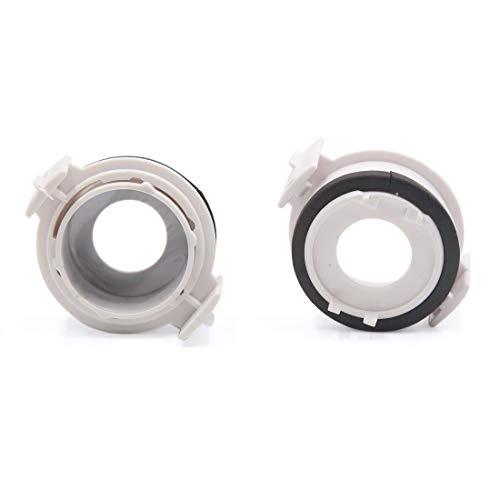2 Stück Kunststoff weiß Scheinwerferlampe Auto Halterung Adapter für E46