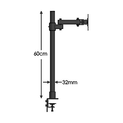 Wearson LCD Monitor Ständer Höhenverstellbare Tilt 360 Schwenk Verdickte Stahl VESA Ständer 75x75 100x100mm passt 22